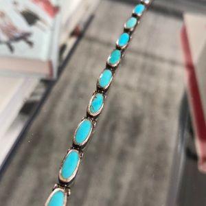 Vintage Jewelry - Turquoise / Sterling Silver Bracelet - Vintage